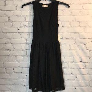 NWT Altar'd State Black Floral Lace Skater Dress